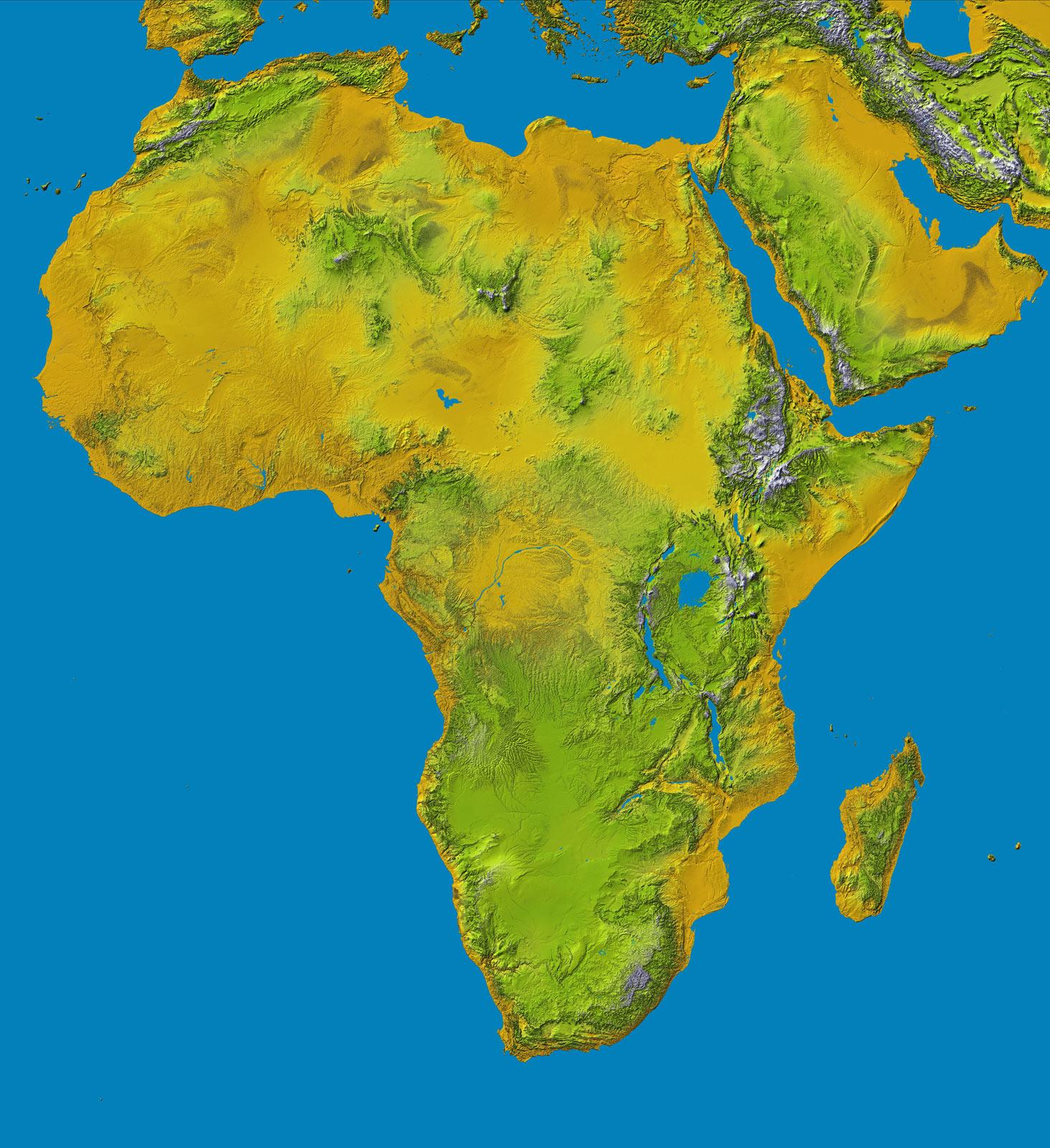 Africa Carta Politica Muta