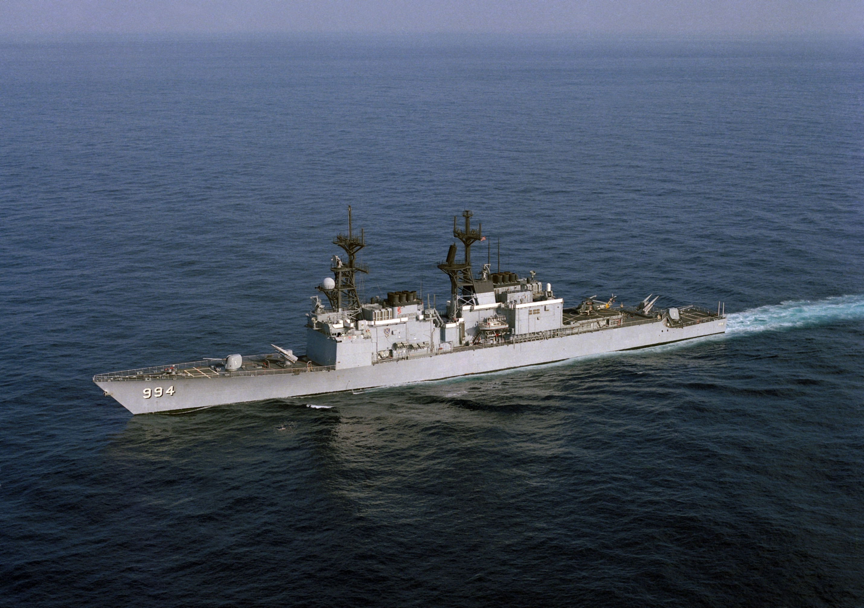 The USS Calligahn in 1987. (Photo from Wikimedia)