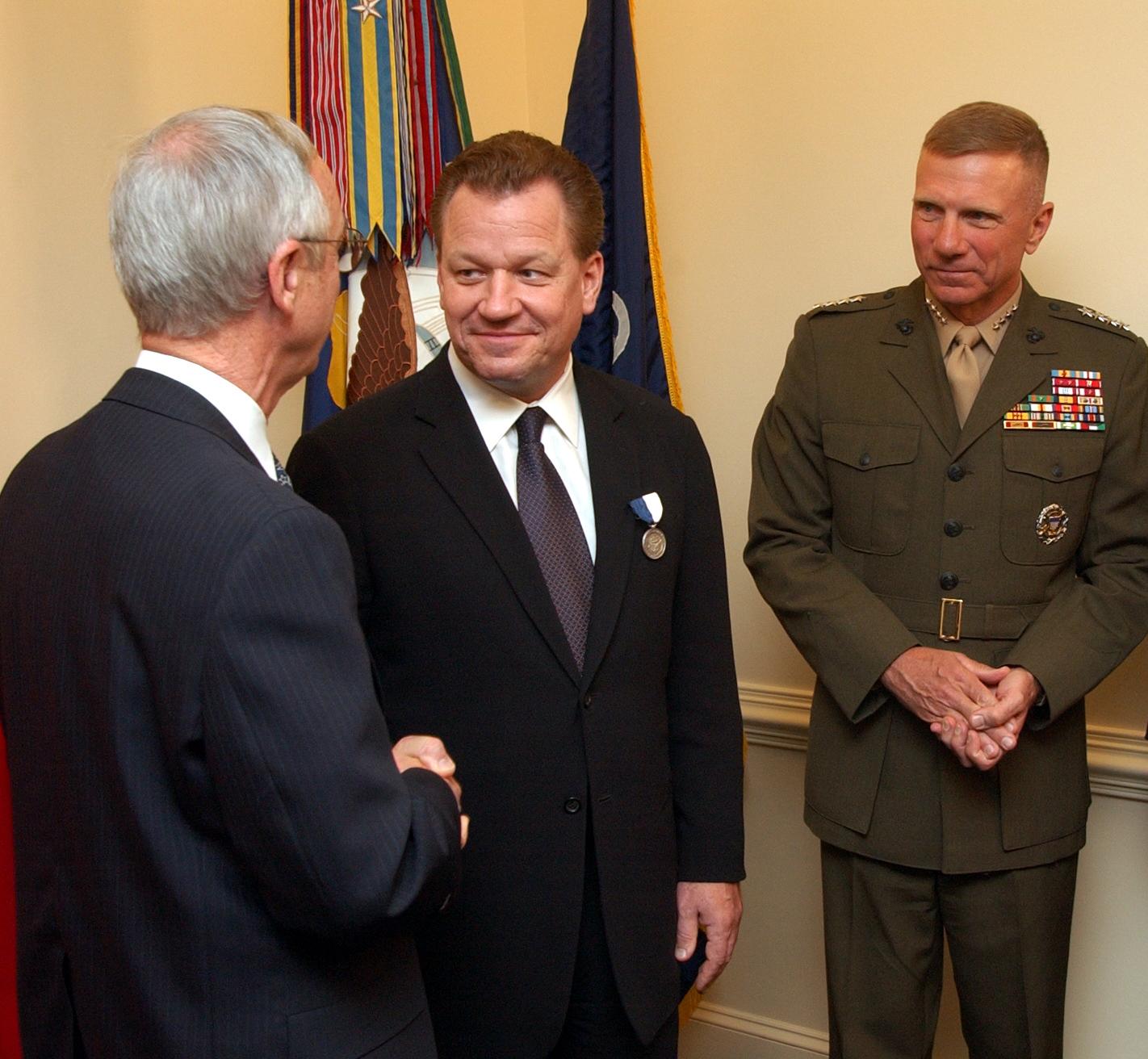 Secretary of the Navy [[Gordon R. England