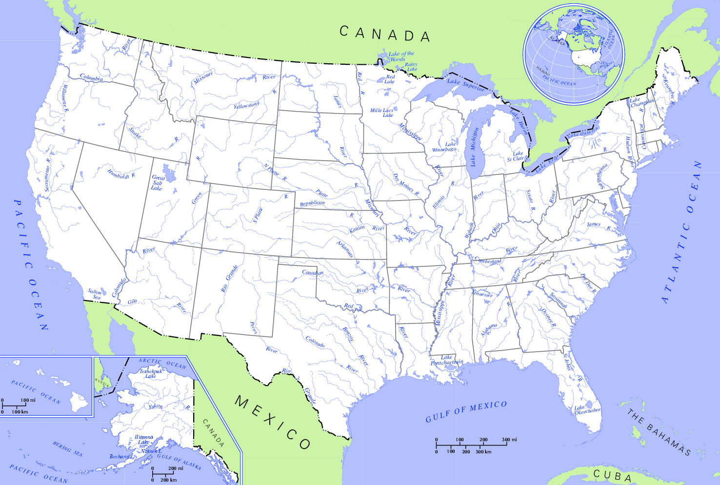 FileUS Map Rivers And Lakesjpg Wikimedia Commons - Us map with rivers