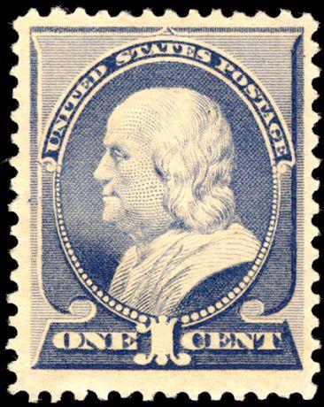 FileUS Stamp 1887 1c Franklin