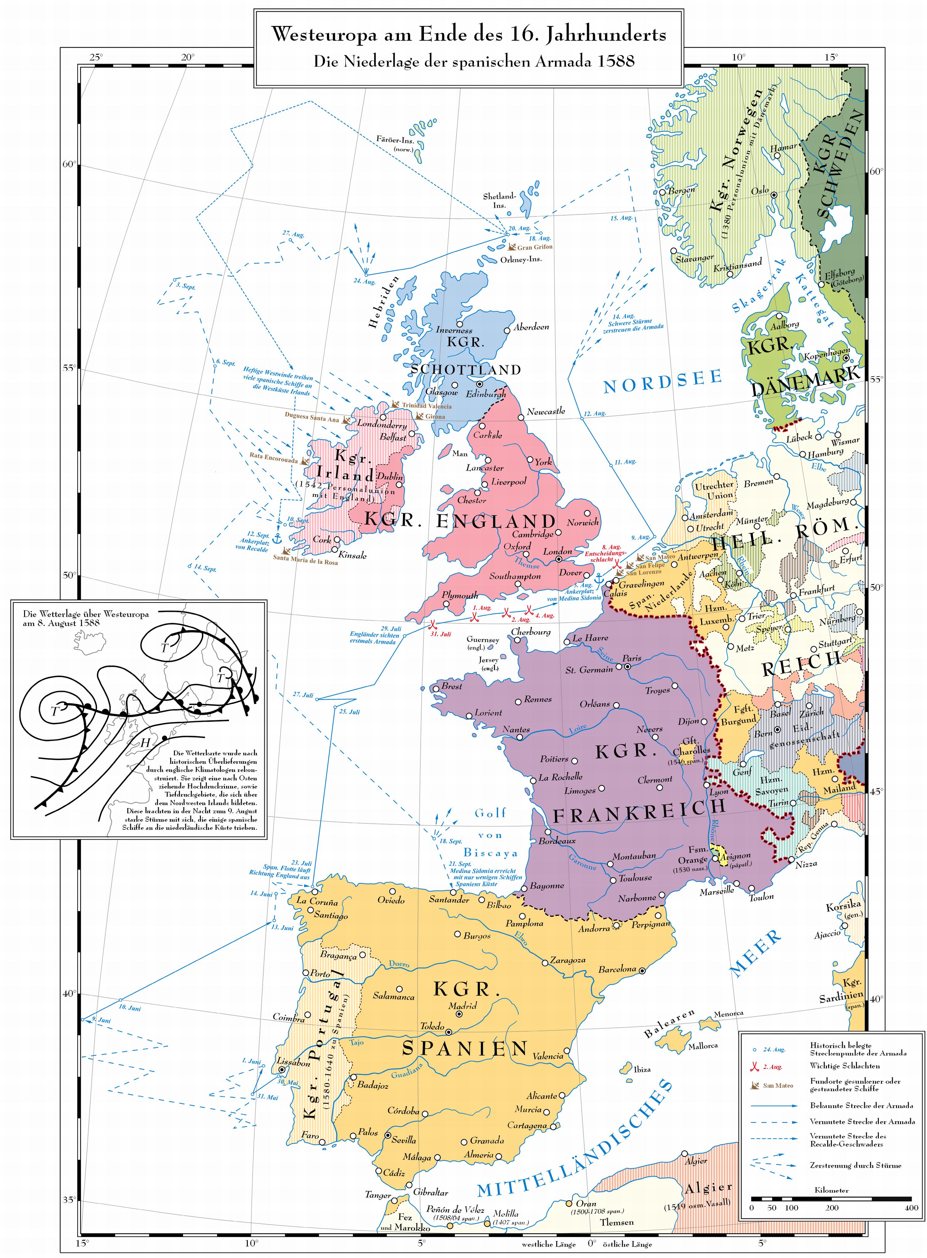 die route der spanischen armada