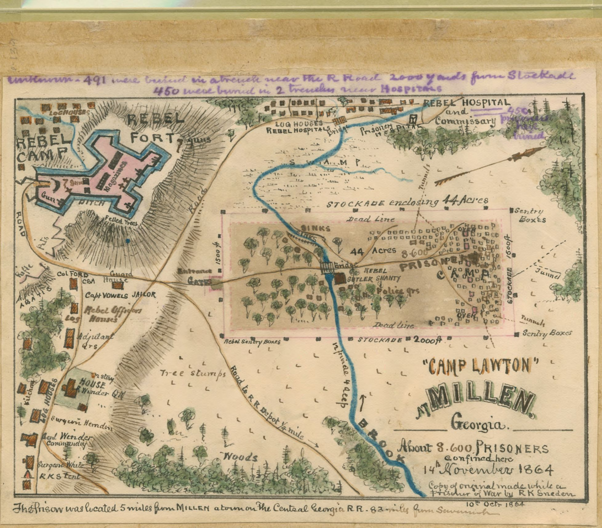 "File ""Camp Lawton"" at Millen Georgia about 8 600 prisoners"