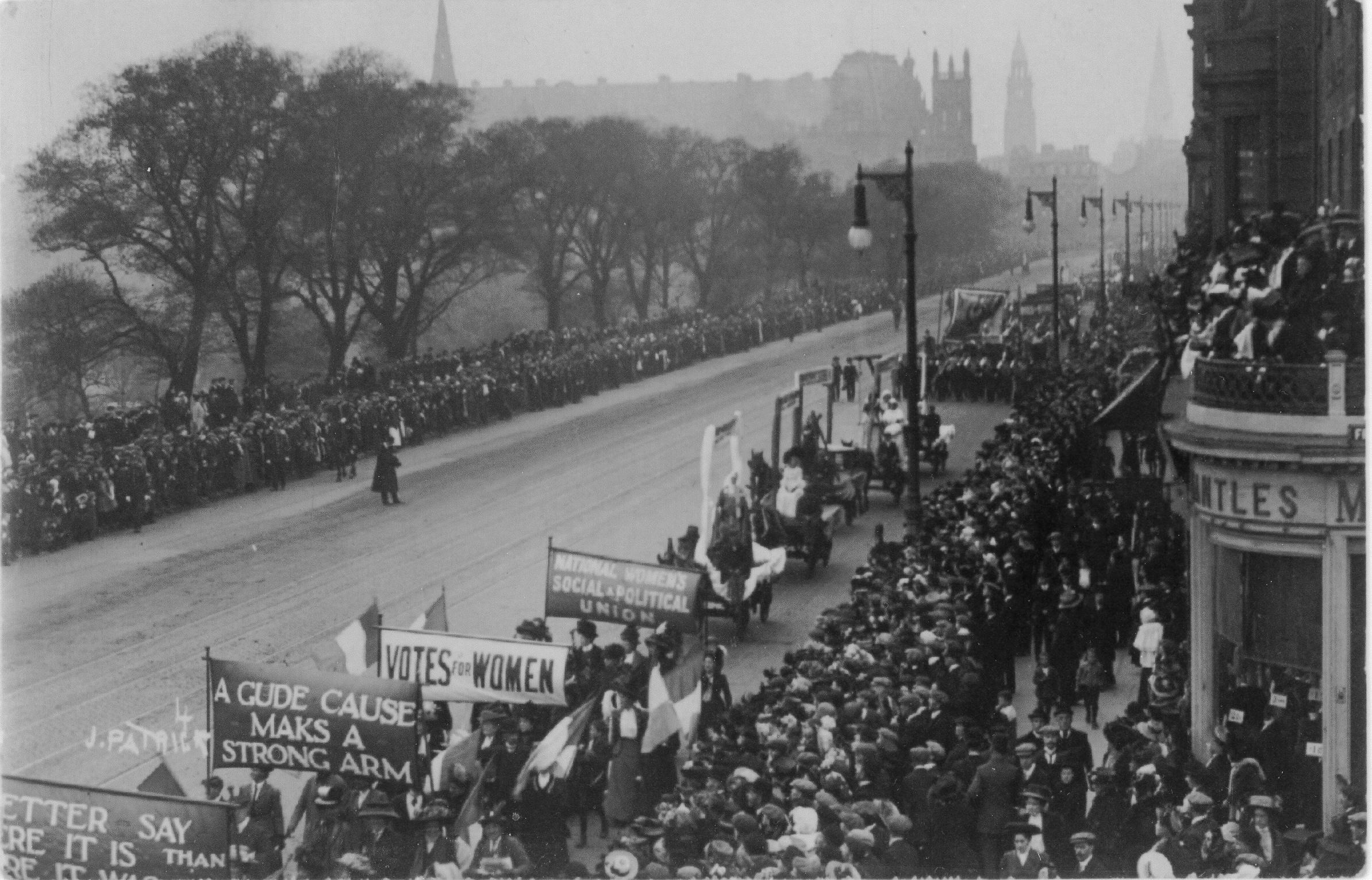 Protesto pelo direito ao sufrágio femino na Inglaterra, 1909