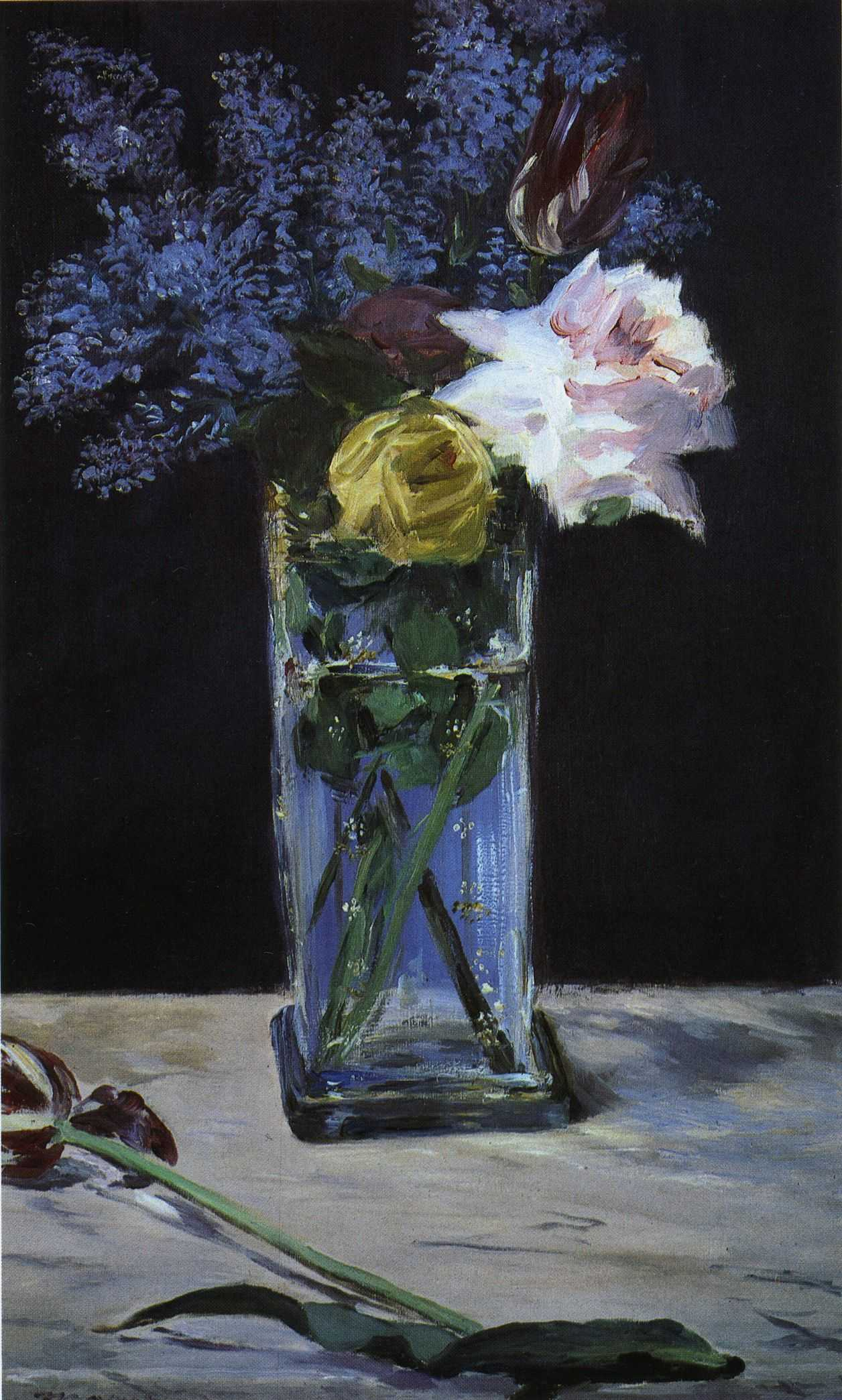 flower vase painting on canvas with File  C3 89douard Ma    Roses  Tulips Et Lilas Dans Un Vase De Christal on Blazing White Daisies In Persimmon Vase Elaine Plesser moreover Pic3819 004 together with Art Sg   images Famous 20Paintings famous 20Landscape 20flower 20VAN 20GOGH 201 moreover File  C3 89douard Ma    Roses  Tulips et Lilas dans un vase de christal besides Watch.