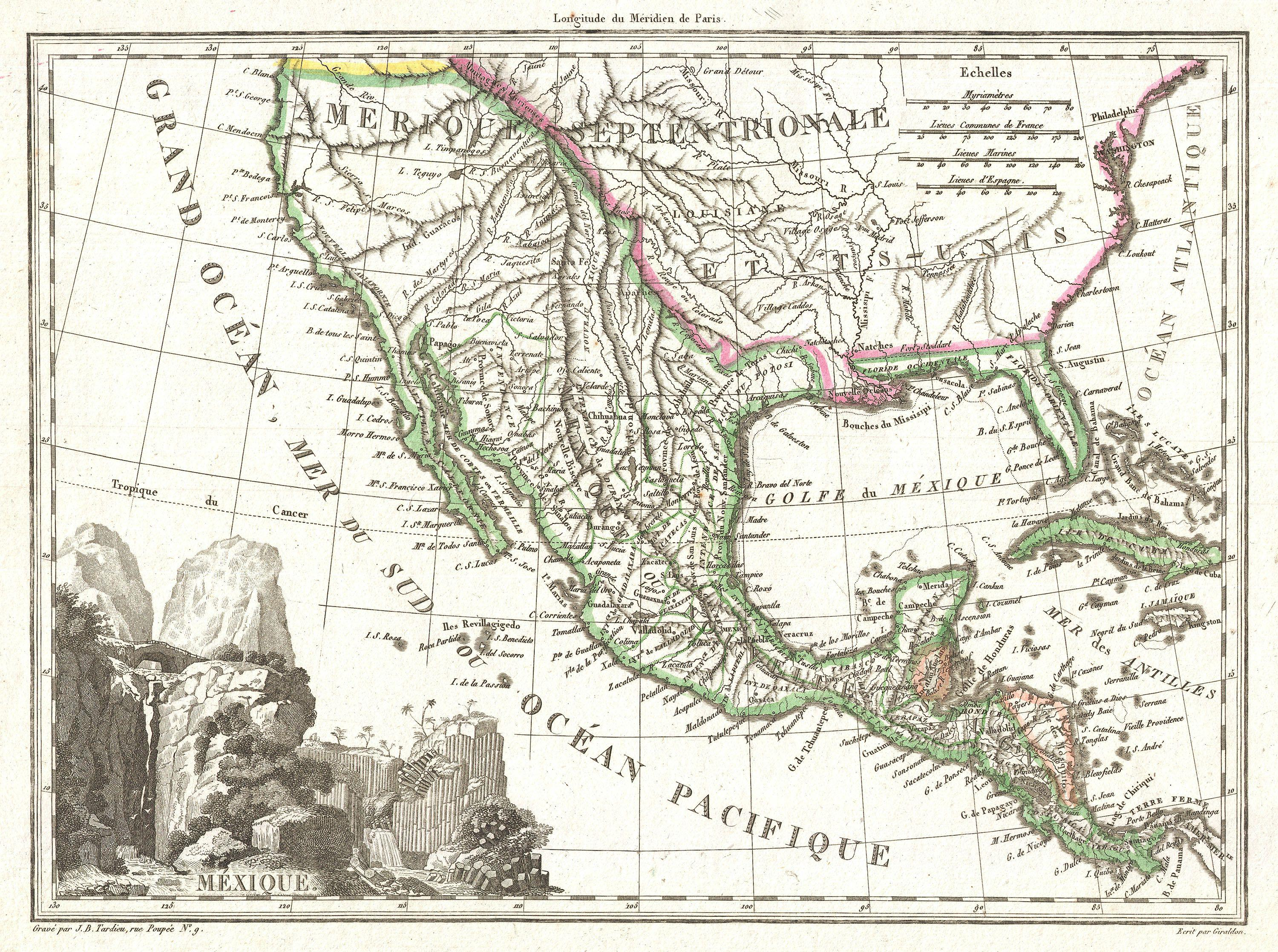 File 1810 Tar u Map of Mexico Texas and California Geographicus