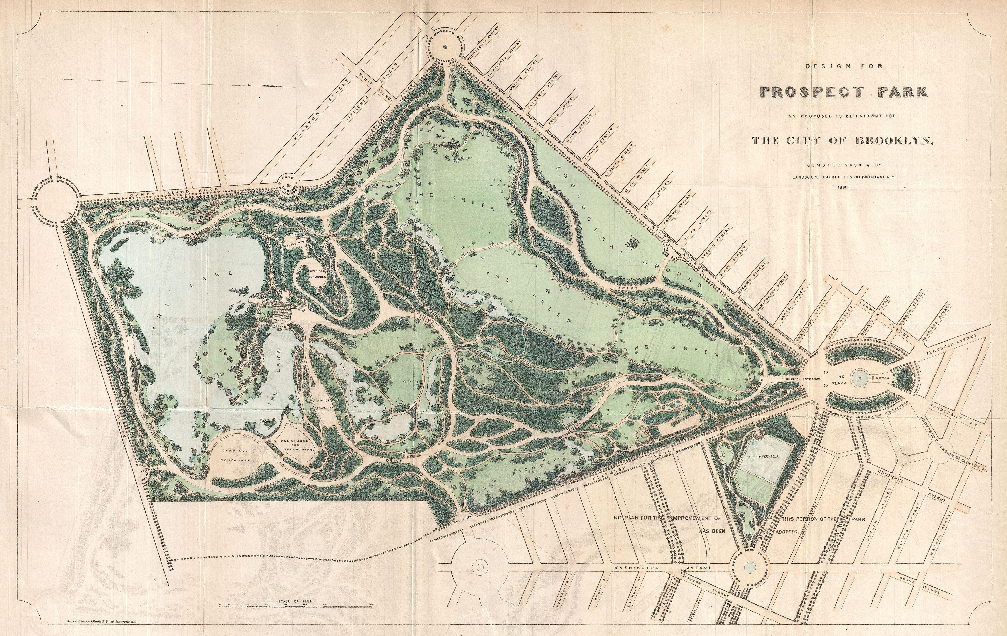 File:1868 Vaux and Olmstead Map of Prospect Park, Brooklyn ...