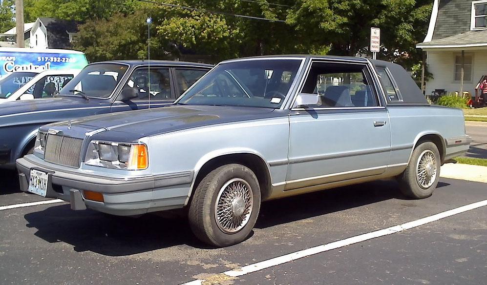 "IMCDb.org: 1987 Chrysler LeBaron Convertible in ""Alarm für ...  |1996 Lebaron Convertible"