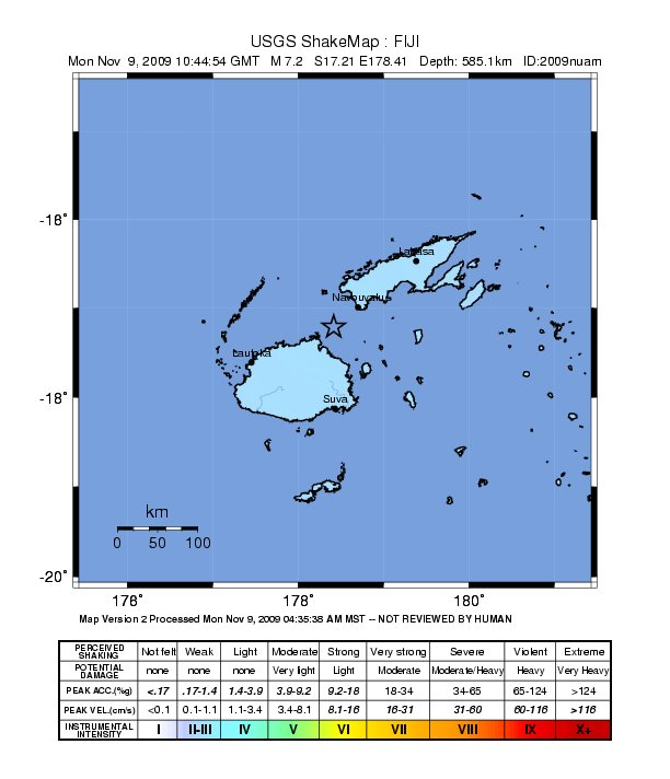 2009 Fiji earthquake Wikiwand