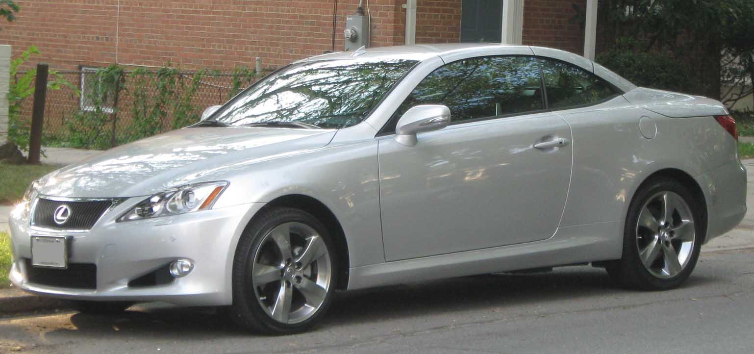 File:2010 Lexus IS250C 2 -- 06-24-2010.jpg - Wikimedia Commons