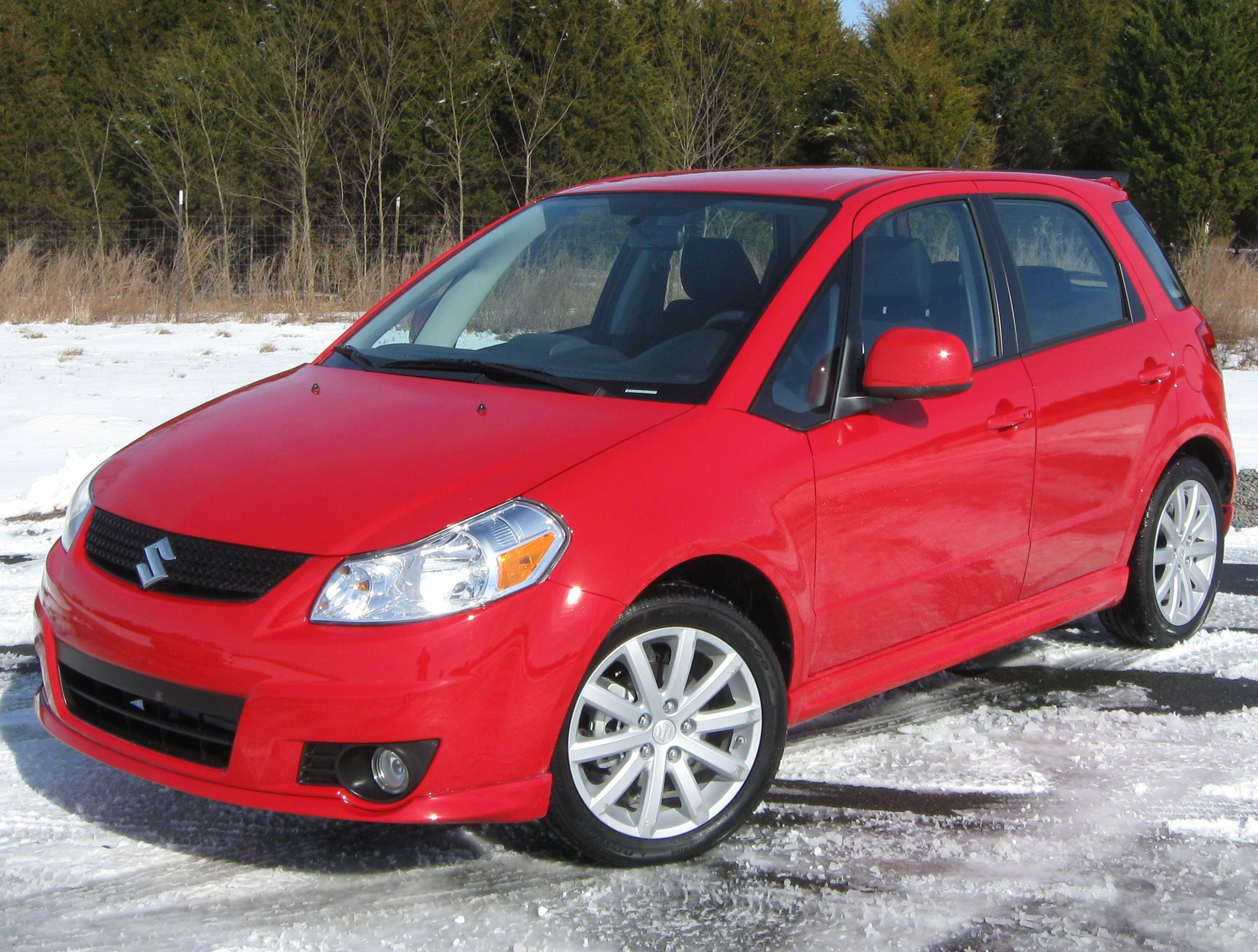 Red Suzuki Forenza