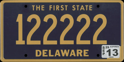 File:2013 Delaware license plate 122222.jpg - Wikimedia Commons