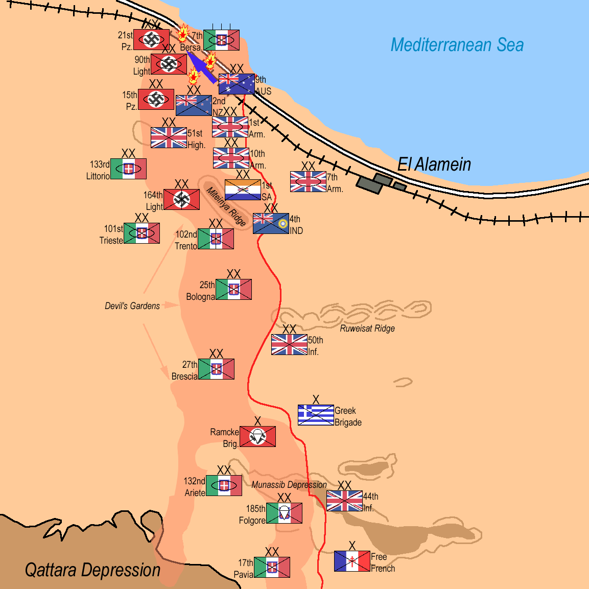 a history of the battle of el alamein Find out more about the history of battle of el alamein, including videos, interesting articles, pictures, historical features and more get all the facts on historycom.
