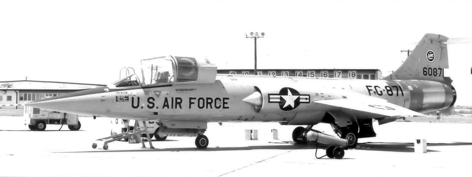 File:331st Fighter-Interceptor Squadron F-104A 56-871 1964.jpg
