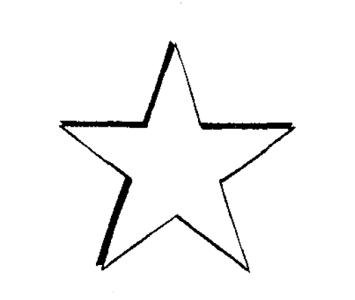 File5 point star drawing png