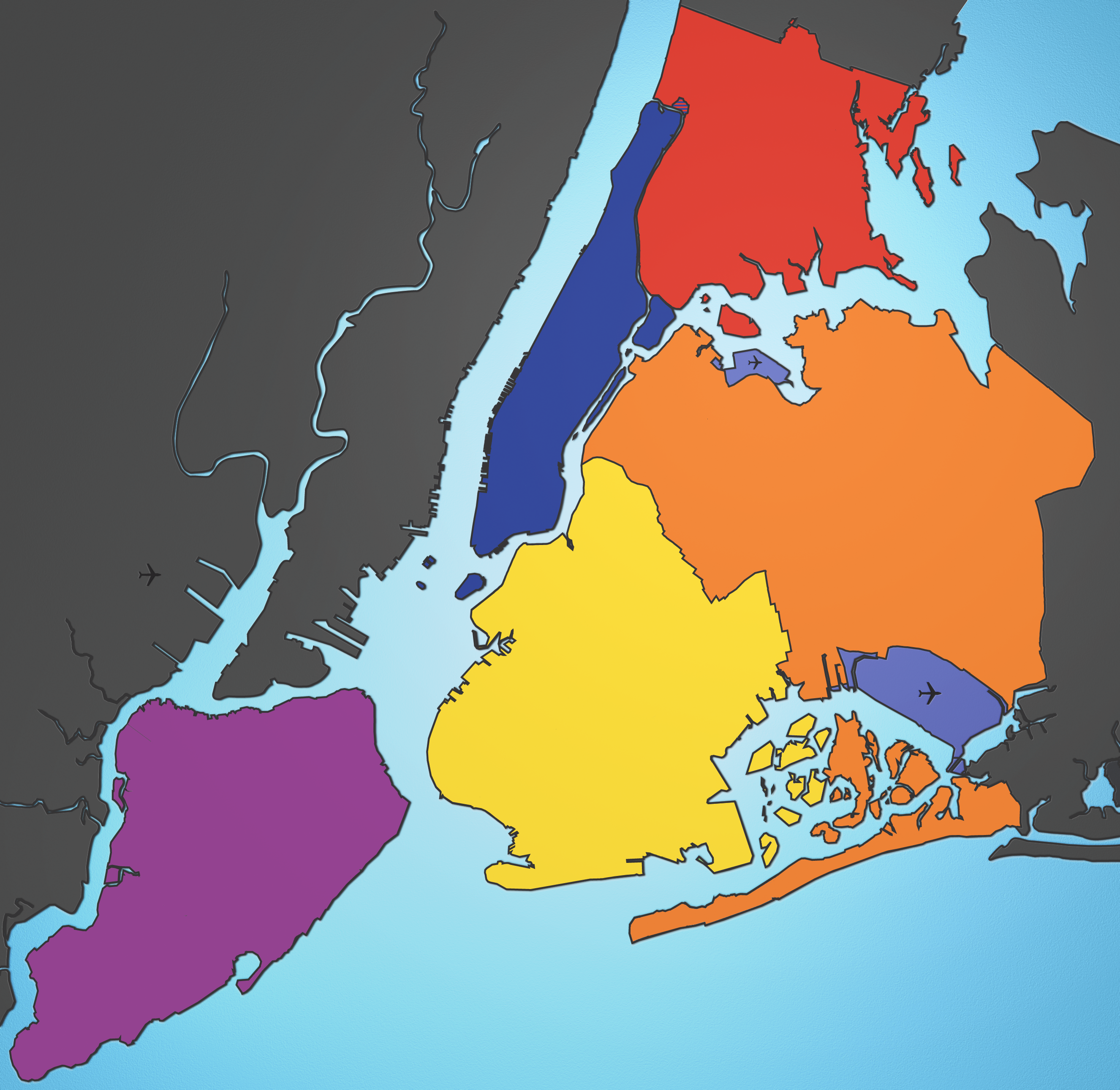 File5 Boroughs New York City Map Julius Schorzmanpng