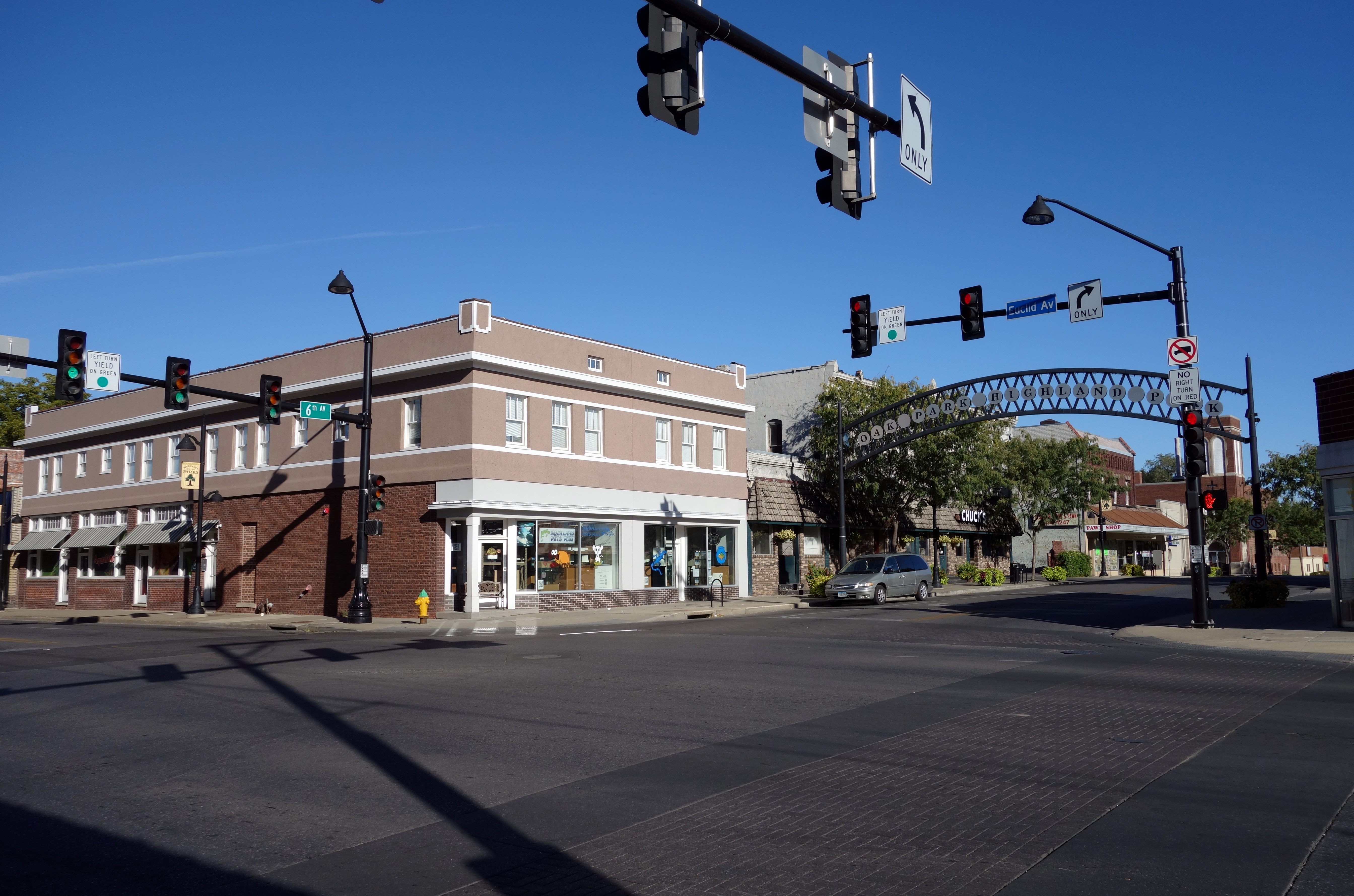 Highland Park Historic Business District at Euclid and Sixth