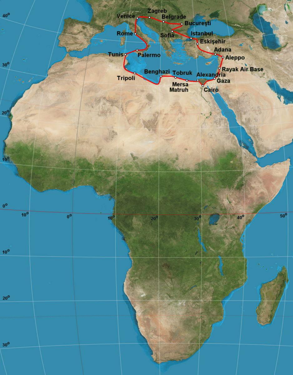 File Africa raid 1934 Banciulescu map Wikimedia mons