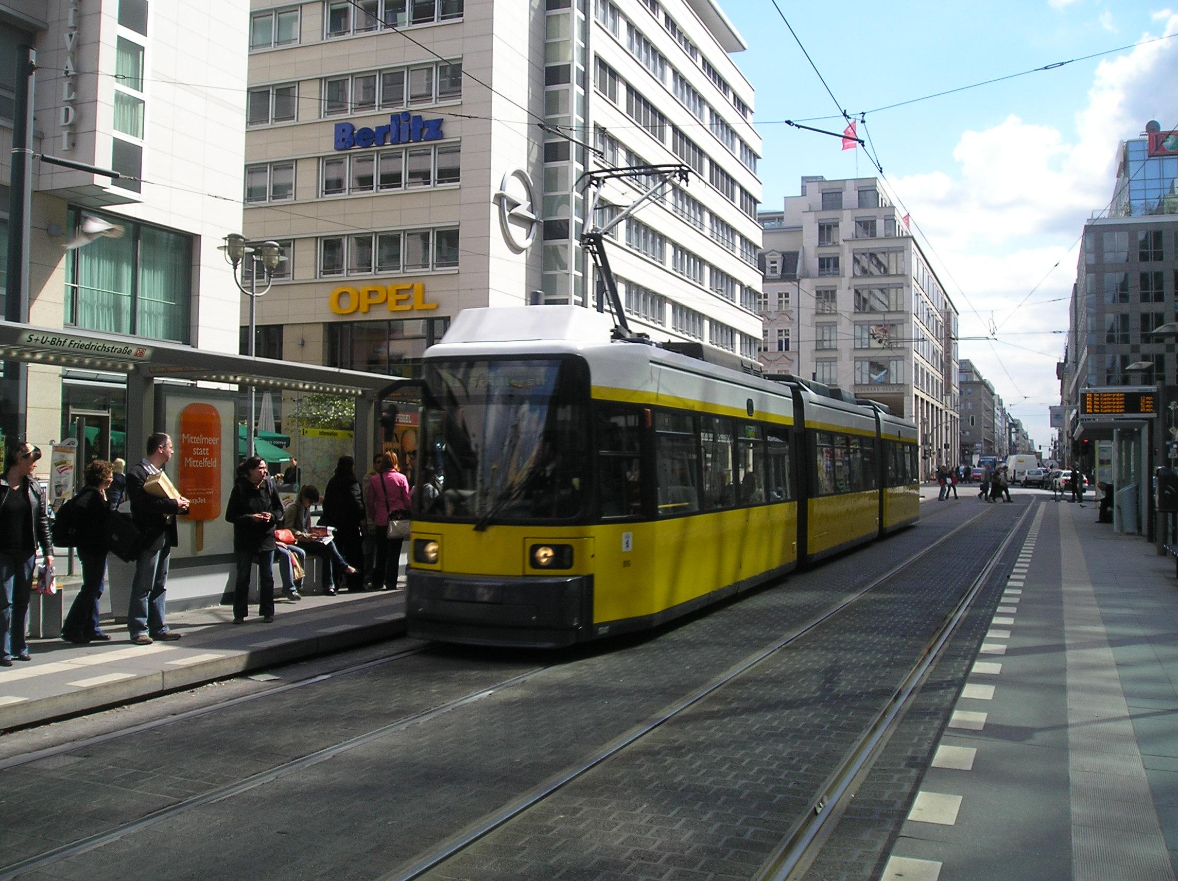 File BVG tram line M1 on Friedrichstraße JPG