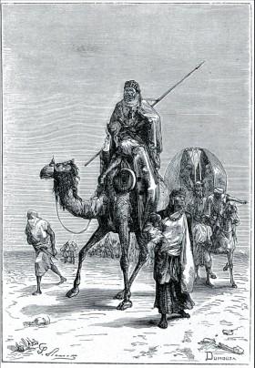 Benjamin de Tudela no Saara (gravura do século XIX)