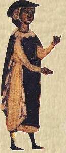 Bernard de Ventadour, enluminure du XIIIe siècle