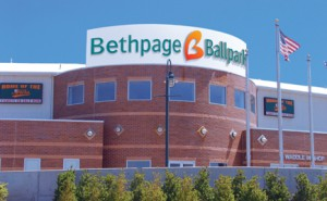 Bethpage Ballpark, home of the Long Island Ducks minor league baseball team Bethpage ballpark.jpg