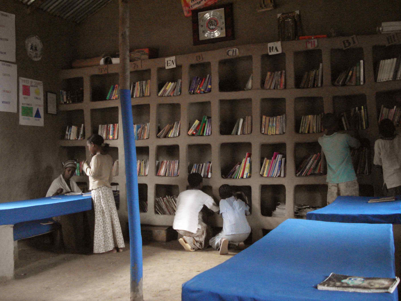 La bibliothèque publique de Awra Amba