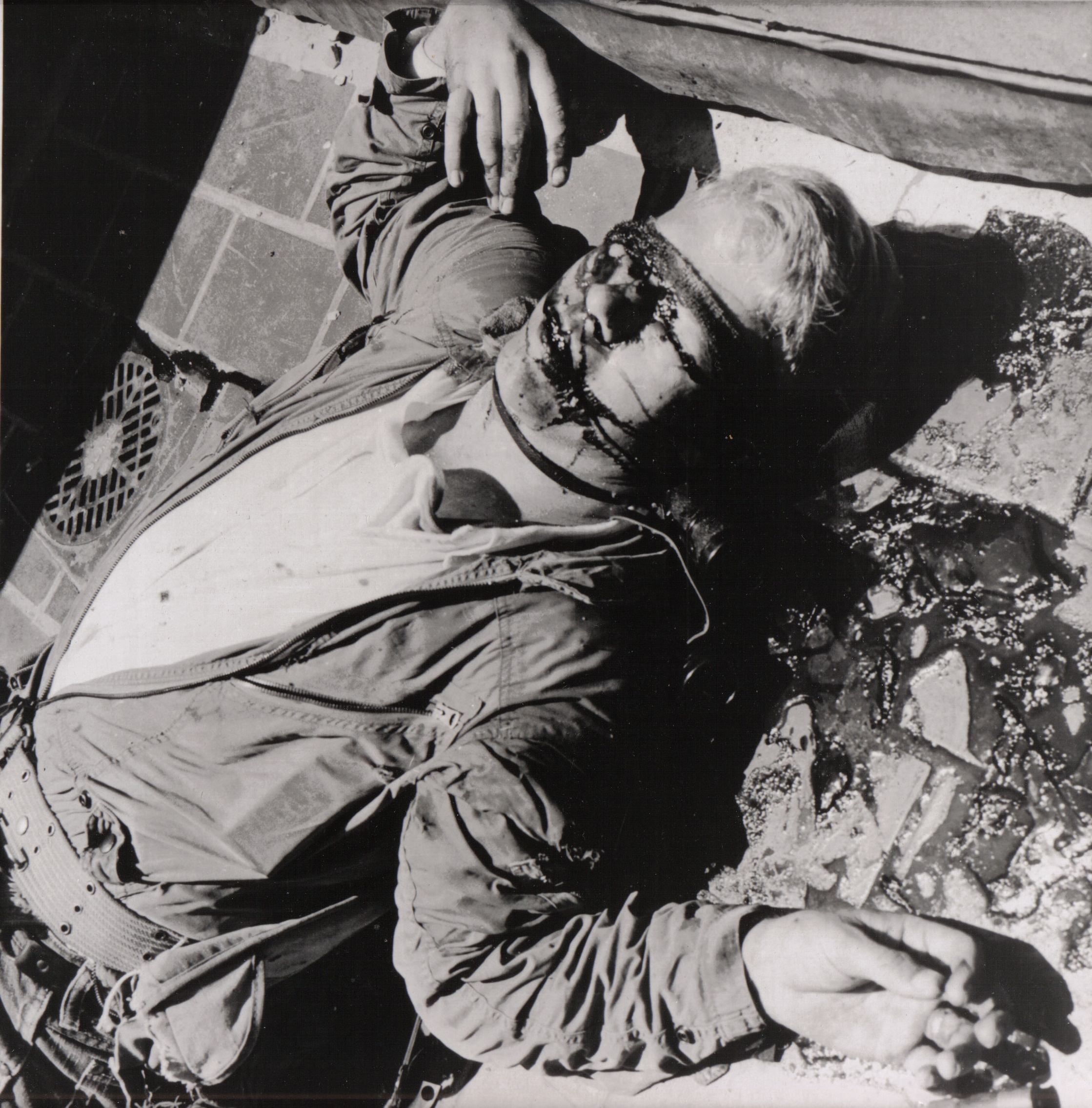 Il corpo di Charles Whitman dopo essere stato ucciso dalla polizia