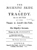 The Mourning Bride cover