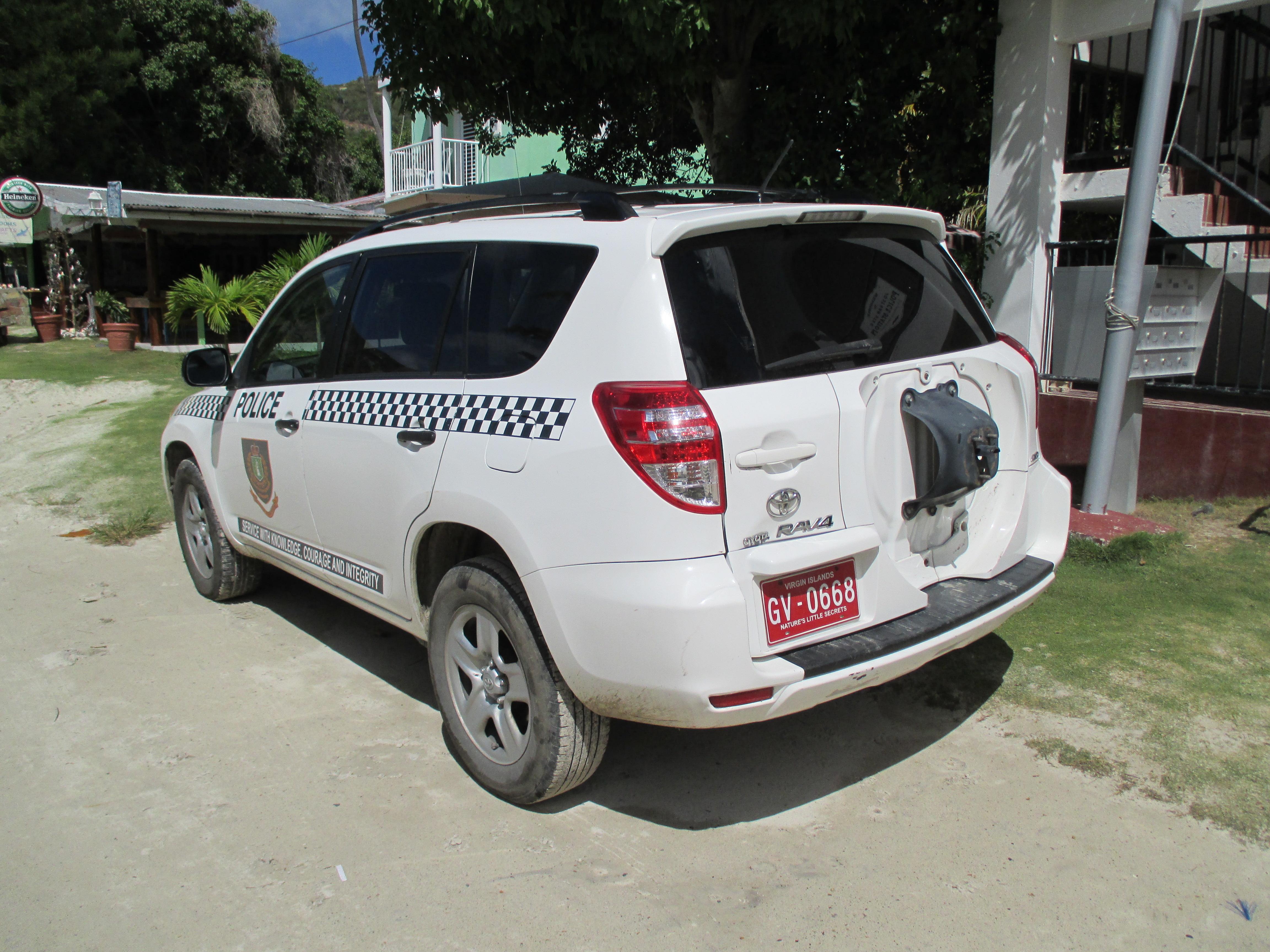 File British Virgin Islands — Jost van Dyke — police automobile