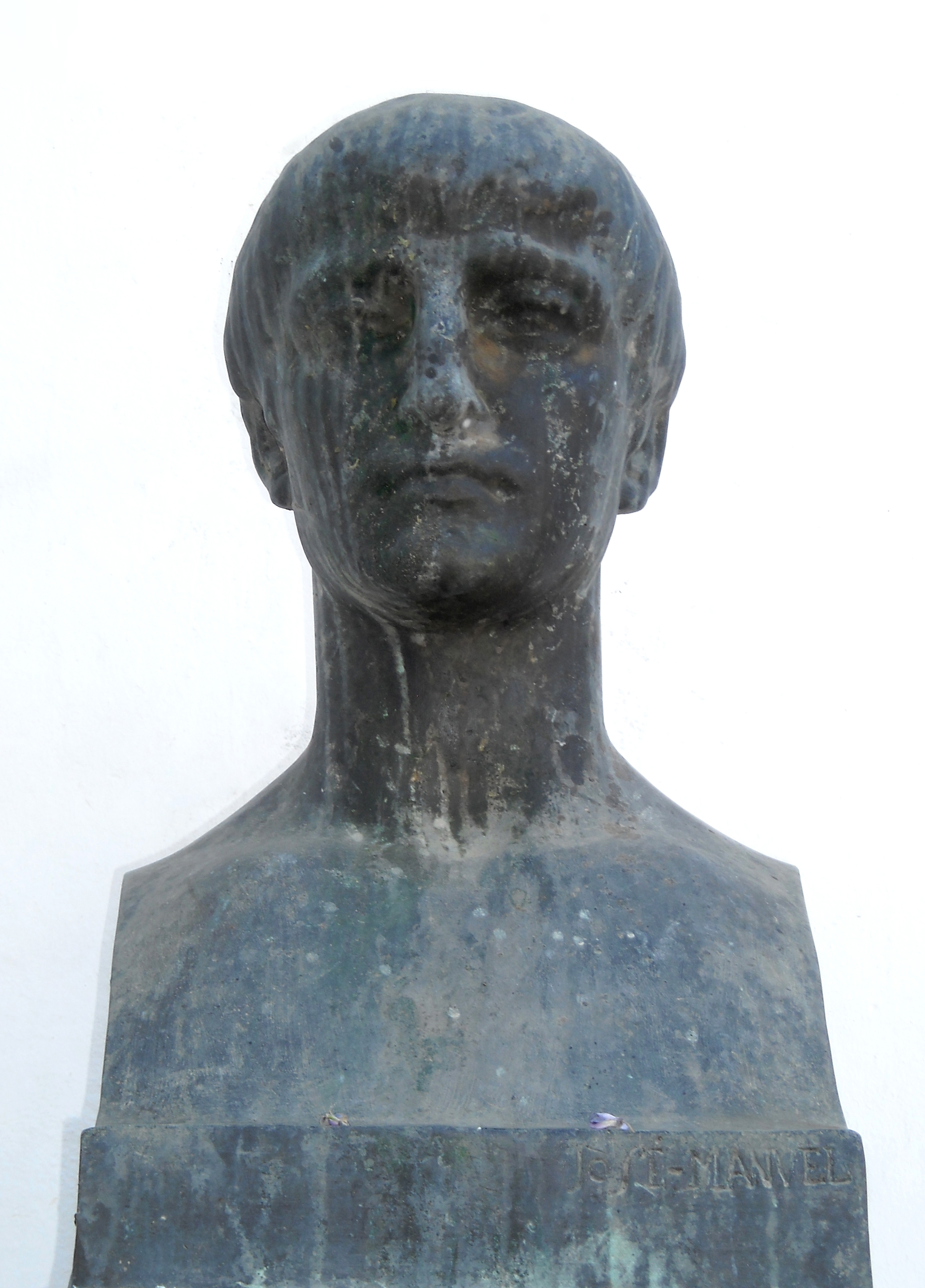 Modern bust of Lucan in [[Córdoba, Spain|Córdoba]]. There are no ancient likenesses.