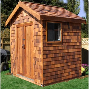 Cedar storage shed wood