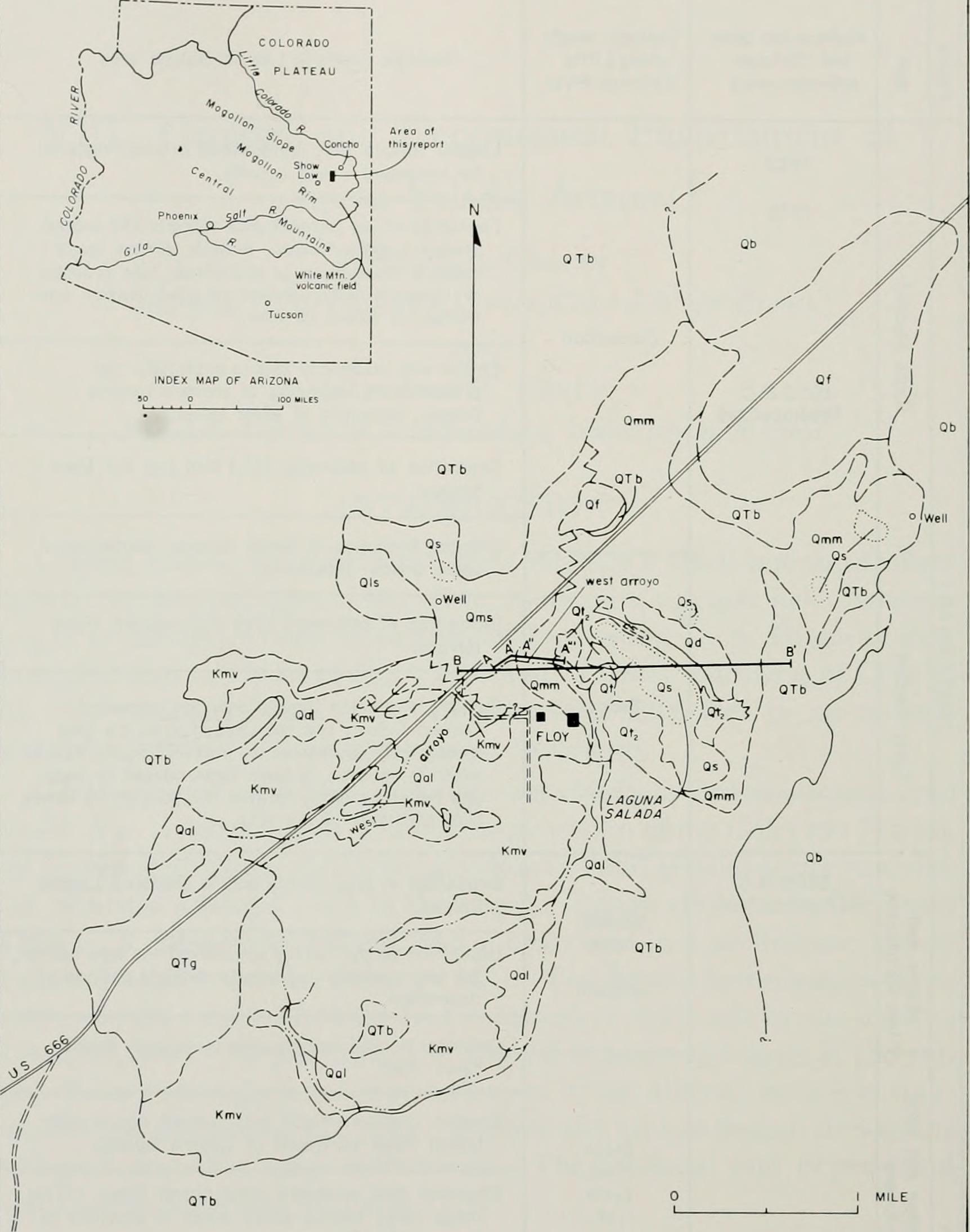 Map Of Eastern Arizona.File Chapters In The Prehistory Of Eastern Arizona 1964