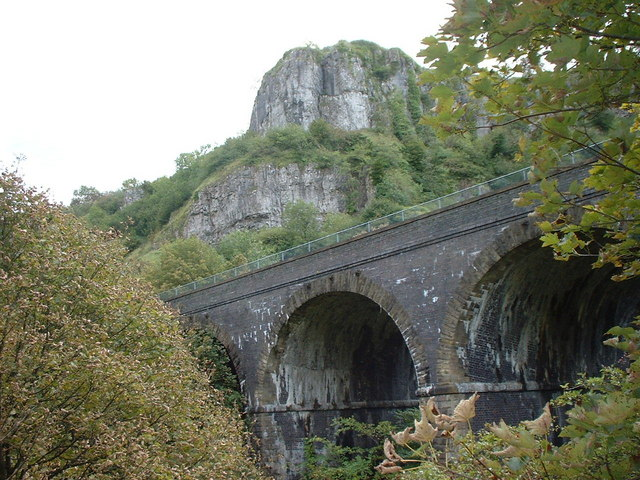 Chee Dale with Monsal Trail Viaduct - geograph.org.uk - 452594