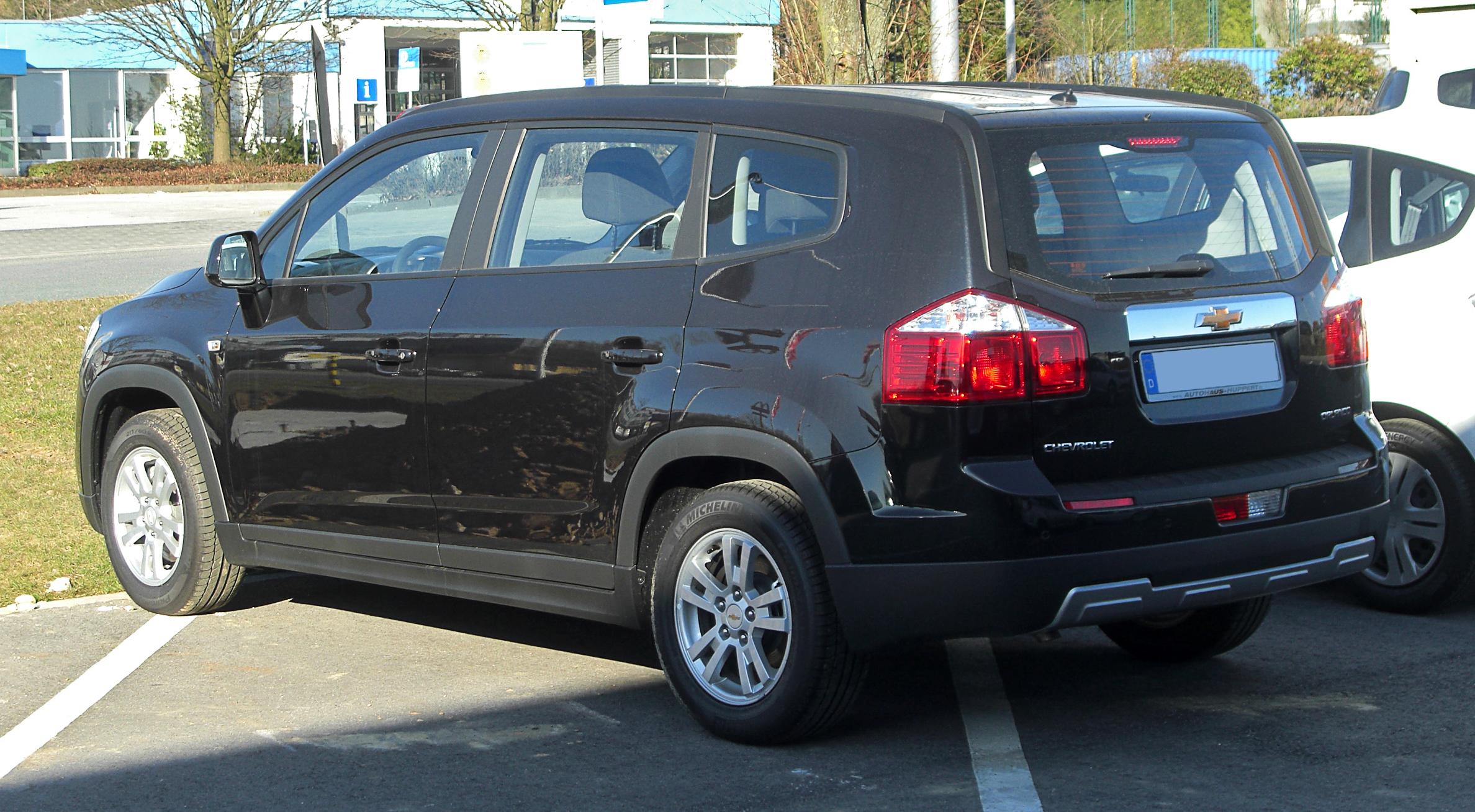 Description Chevrolet Orlando – Heckansicht, 7. März 2011, Mettmann ...