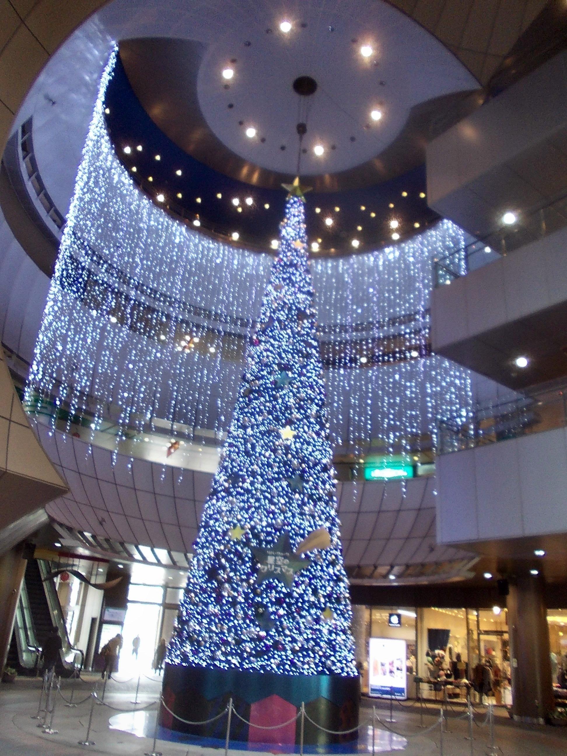 File Christmas tree in Riverwalk Kitakyushu Wikimedia mons