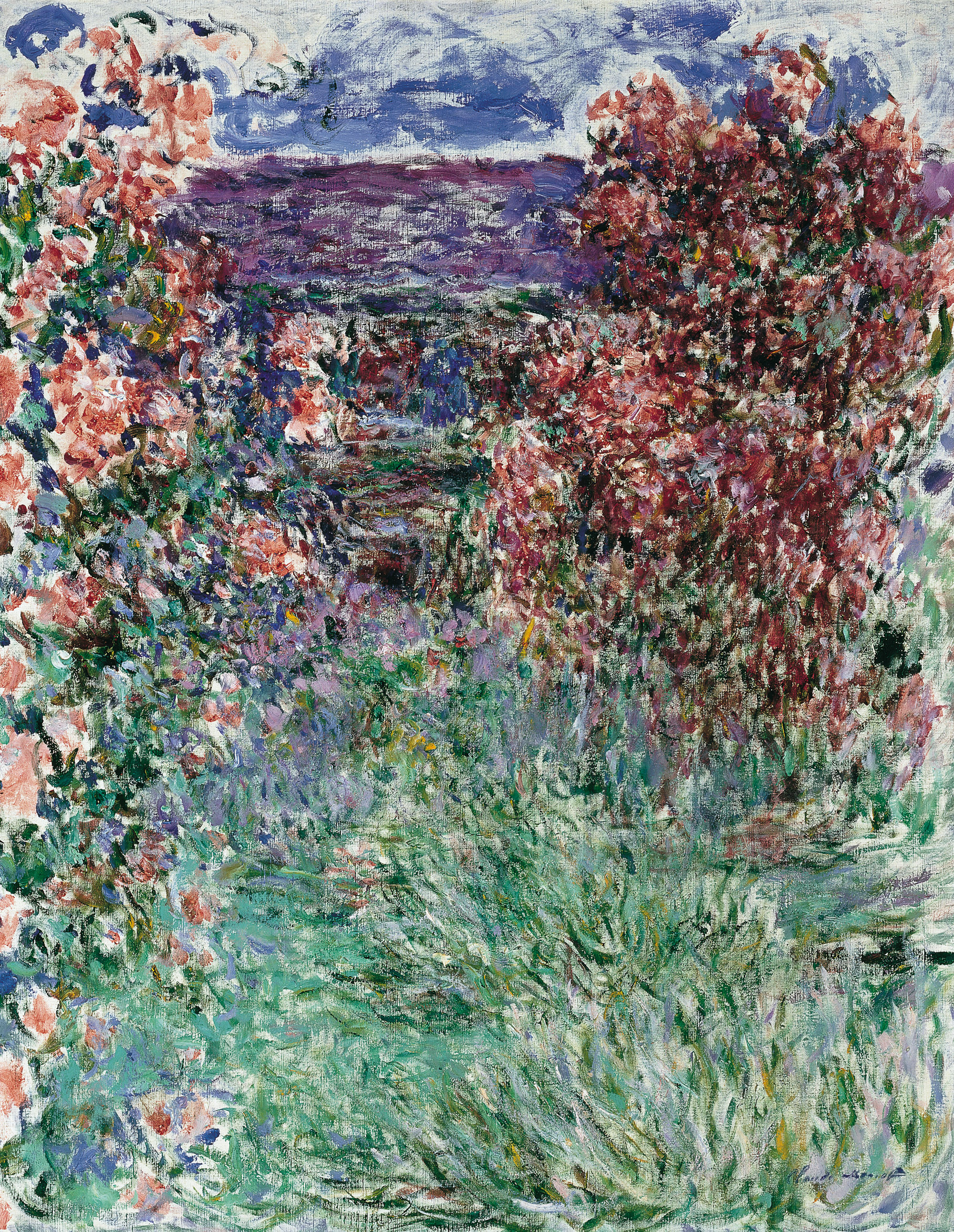 file claude monet house among the roses the 1925 jpg. Black Bedroom Furniture Sets. Home Design Ideas