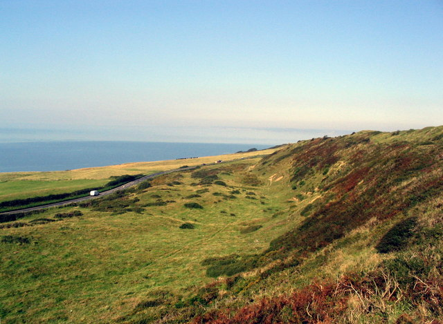 Coast road seen from Abbotsbury Hill Fort - geograph.org.uk - 539459