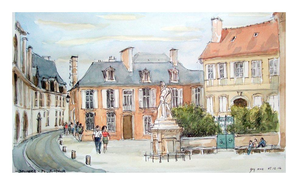 Filecroquis Bourges Place Jacques Coeur France