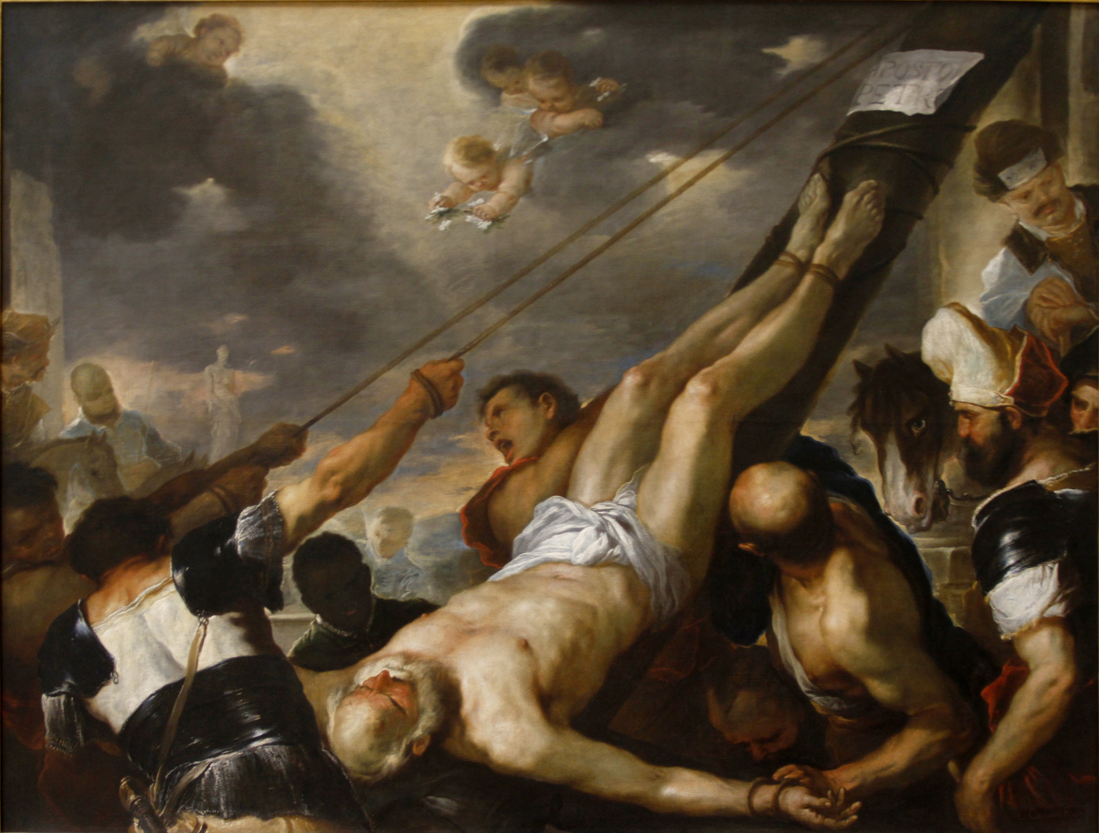 crucifixion of saint peter The crucifixion of saint peter is a work by michelangelo merisi da caravaggio,  painted for the cerasi chapel of santa maria del popolo in rome across the.