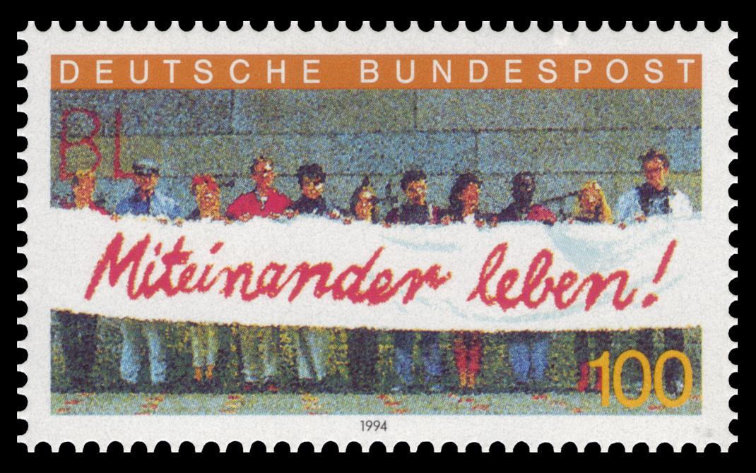 DBP 1994 1725 Miteinander Leben.jpg