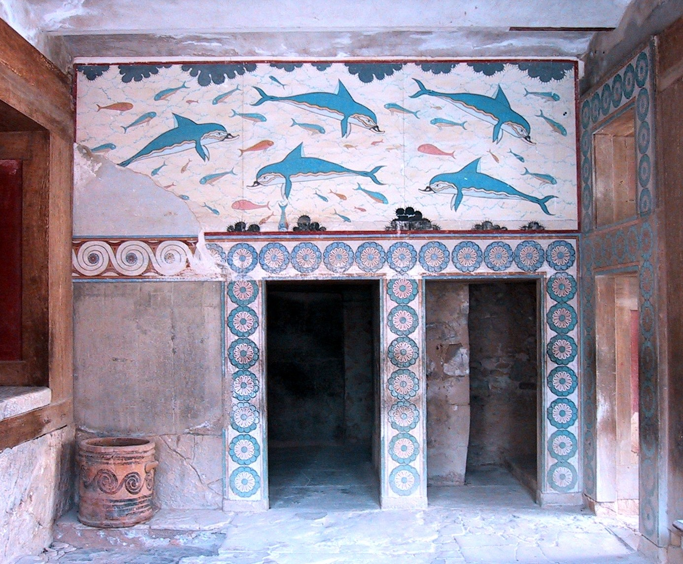 Archaeological site of knossos gtp for Ancient greek mural