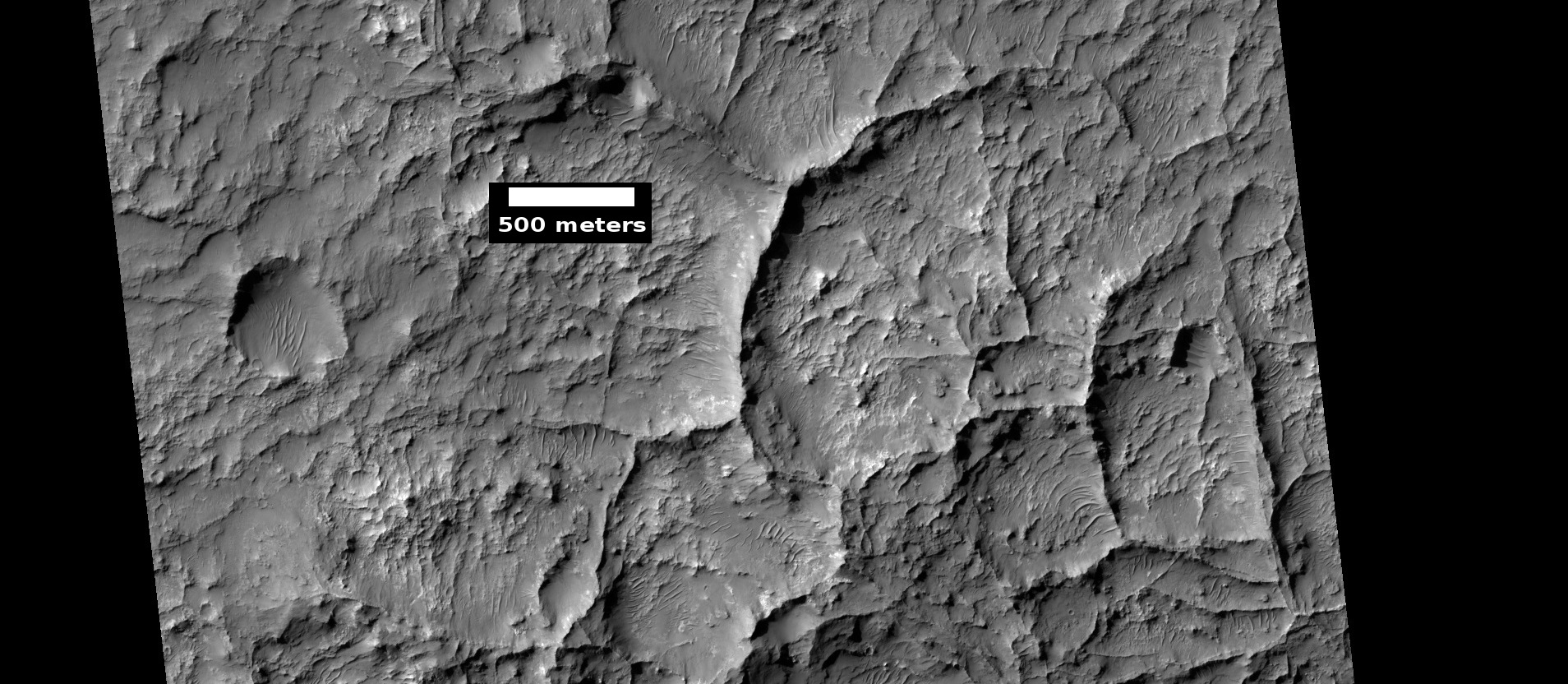 Linear ridge networks, as seen by HiRISE under HiWish program
