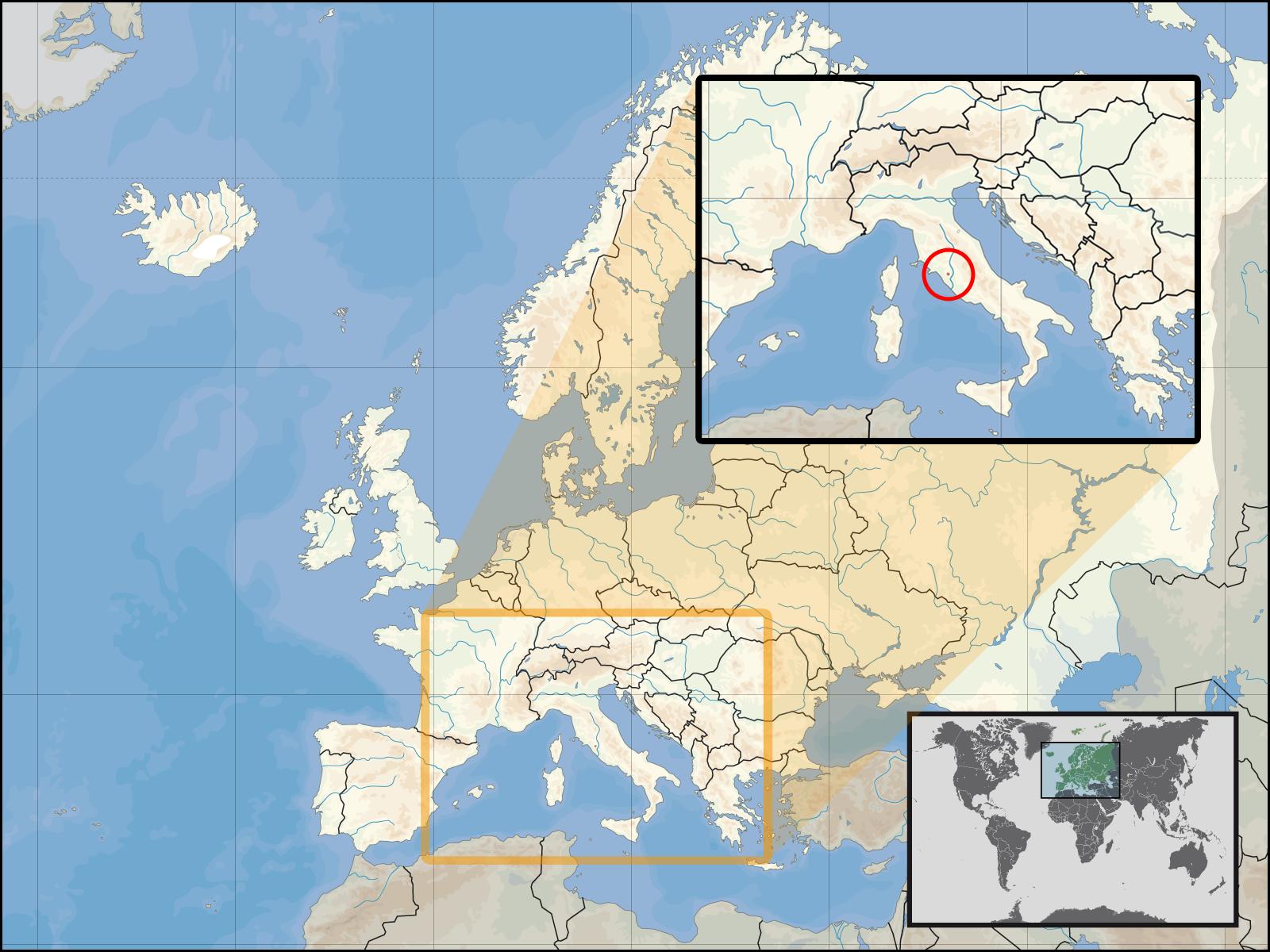 Ватикана на карте европы смотреть