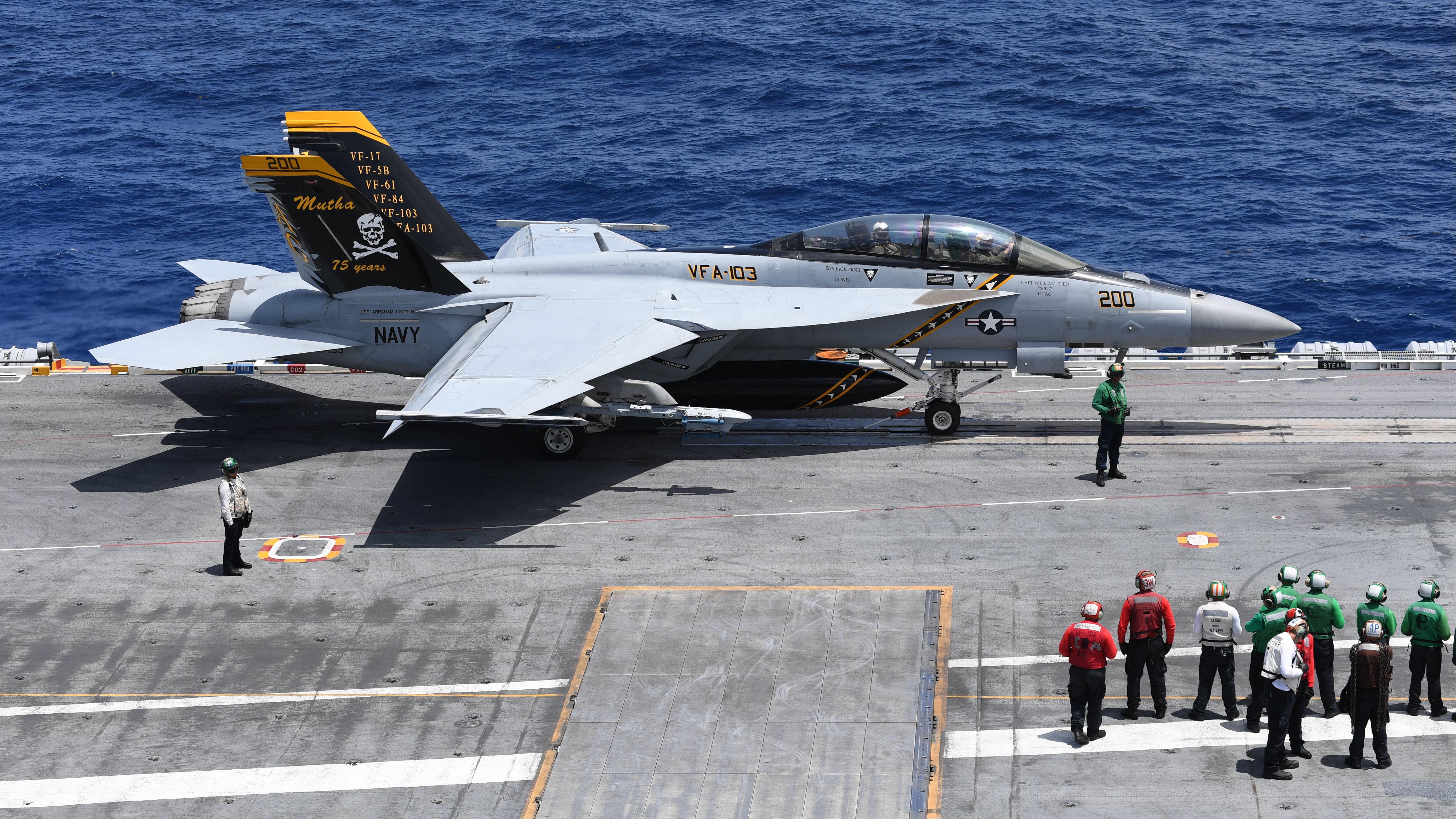 VFA-103 patch F-14 Tomcat Nimitz Jolly Rogers Cruise Mutha Battle US Navy CVW VF