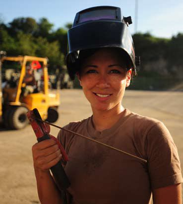 Female seabee in Guantanamo -c