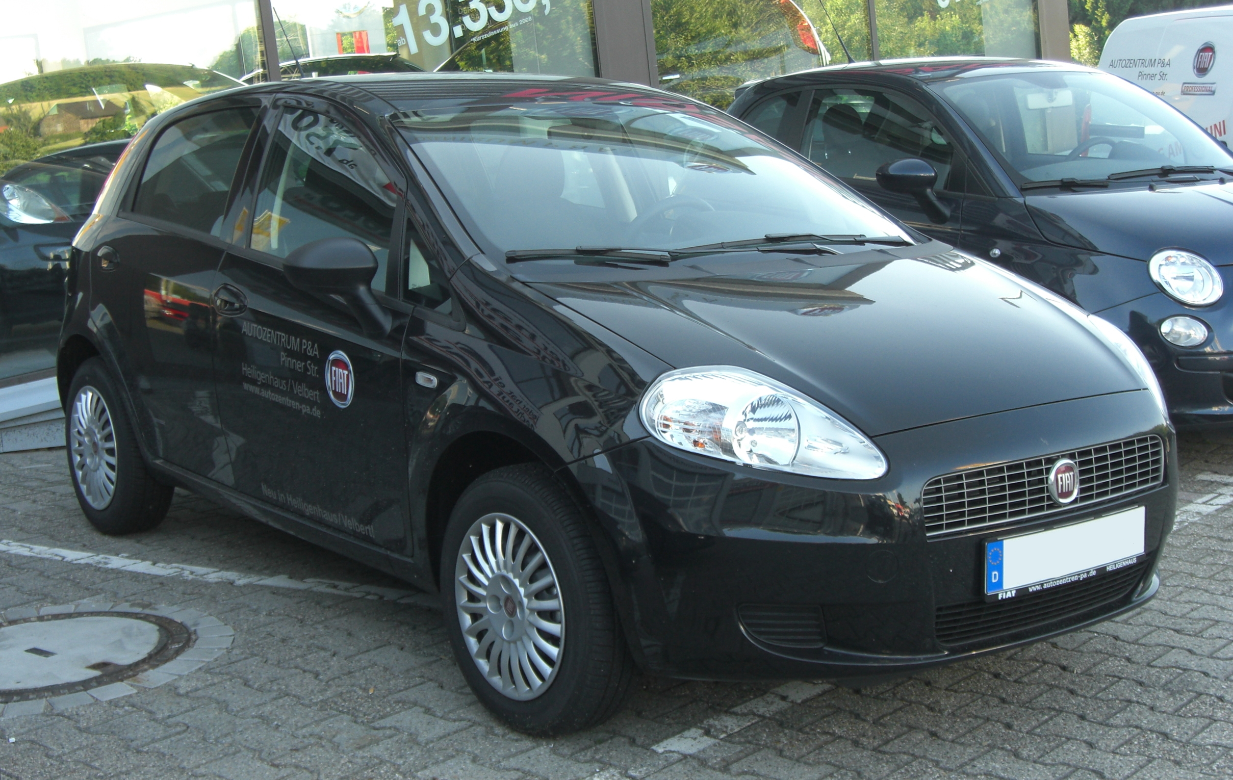 File Fiat Grande Punto Front 1 Jpg Wikimedia Commons