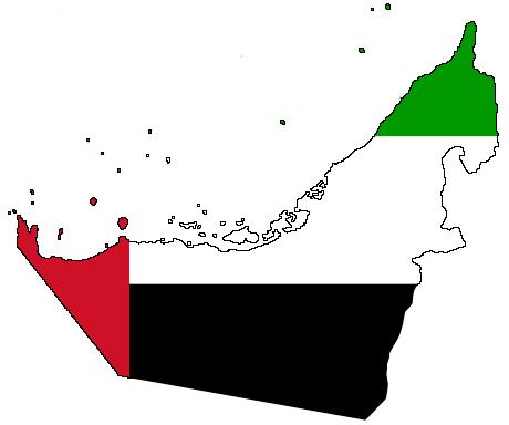 File:Flag Map_of_UAE on Social Studies Clipart
