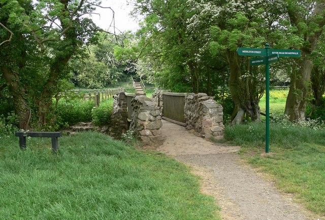 Footbridge on the Aylestone Meadows - geograph.org.uk - 815384