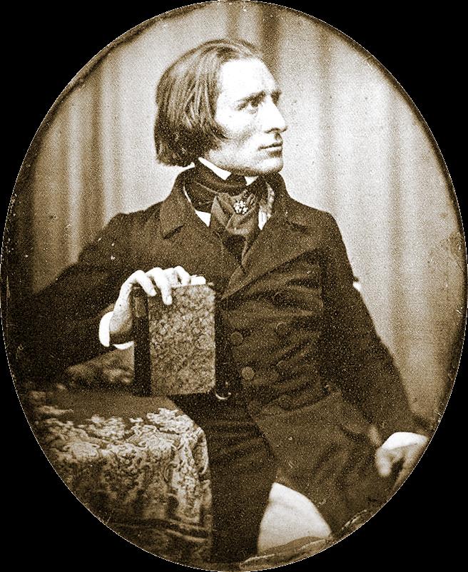 """Franz Liszt by Herman Biow- 1843"" by Herman Biow - pianoinstituut.nl. Licensed under Public Domain via Commons."